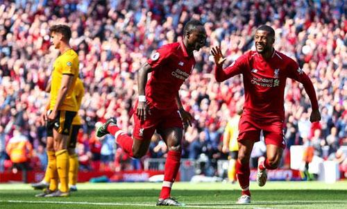 Liverpool đã tiến rất gần đến ngôi vương Ngoại hạng Anh. Ảnh: Reuters