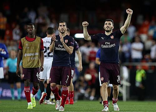 Cầu thủ Arsenal dự trận chung kết châu Âu đầu tiên kể từ Champions League 2005-2006. Ảnh:Rex.