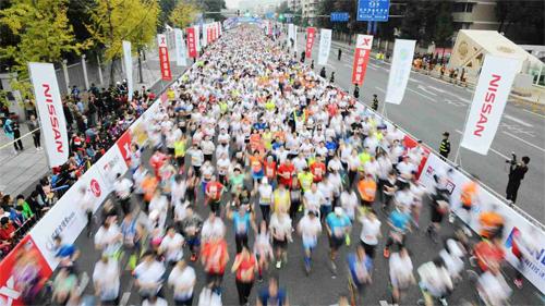 Chạy bộ đang nở rộ tại Trung Quốc, kéo theo rất nhiều giải chạy ra đời.
