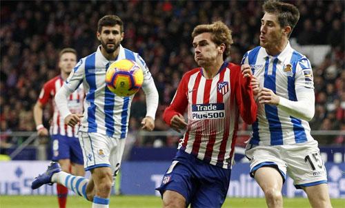 Rời bỏtừ lâu, nhưng Griezmann vẫn đem lại lợi nhuận lớn cho đội cũ Sociedad. Ảnh: Reuters