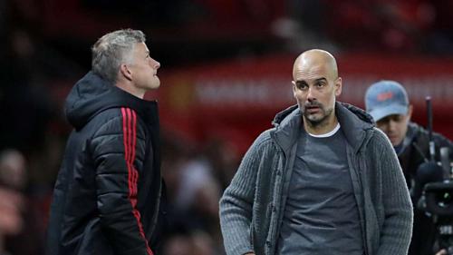 Man Utd phải hy vọng Man City hoàn tất cú ăn ba quốc nội ở mùa giải này. Ảnh:AFP.