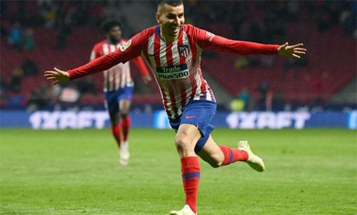 Barca chỉ vô địch sớm bốn vòngnếu Atletico thua Valencia. Ảnh: Reuters