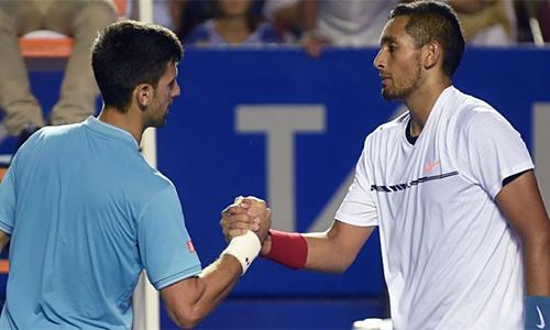 Kyrgios không phục Djokovic vì tay vợt Serbia chưa từng thắng anh. Ảnh: Sky.