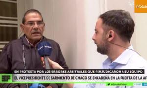 Phó chủ tịch CLB tự xích vào cửa LĐBĐ Argentina để kêu oan