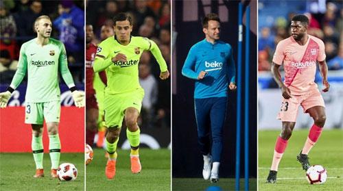 Cillessen, Coutinho, Rakitic và Umtiti có khả năng rời Barca trong vài tháng tới.