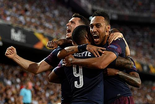 Arsenal tiếp thêm động lực cho cầu thủ trước trận đấu quan trọng nhất mùa giải. Ảnh:AFP.