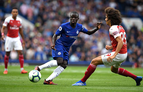Kante vắng mặt là tổn thất lớn cho Chelsea. Ảnh:AFP.