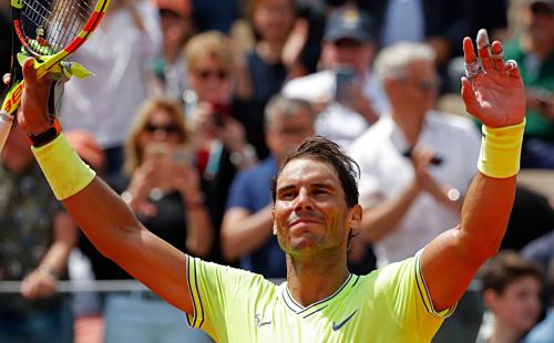 Nadal giành chiến thắng sau gần 120 phút thi đấu. Ảnh: AP.