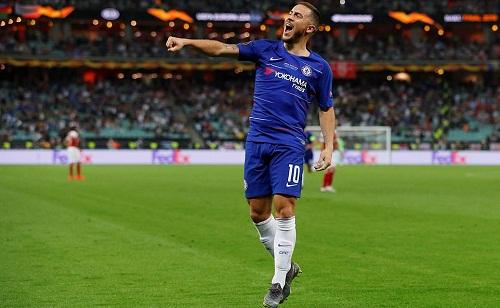 Hazard xem chiến thắng ở trận chung kết như lời chia tay với CĐV Chelsea. Ảnh: Reuters.