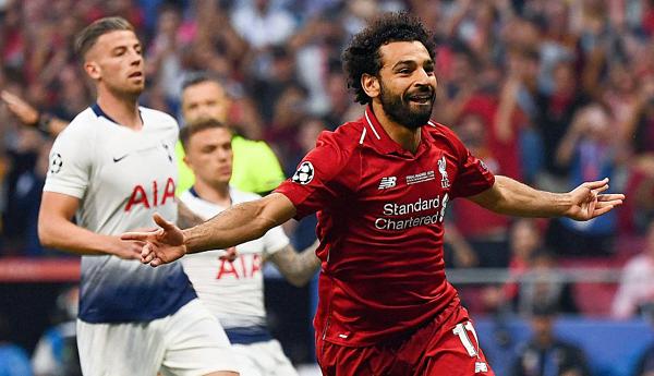 Đây là bàn thắngthứ năm của tiền đạo người Ai Cập ở Champions League mùa này. Ảnh: AFP.