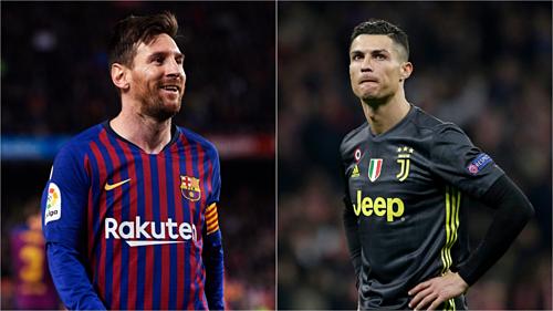Barca và Juventus không vào chơi chung kết nhưng Messi và Ronaldo được đánh giá cao nhờ màn trình diễn cá nhân. Ảnh:AFP/ Reuters.