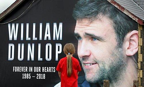 William Dunlop tử nạn năm 2018.