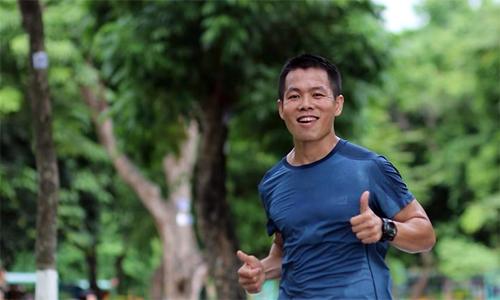 Bắt đầu từ mong muốn giảm cân và chơi thể thao mà không có va chạm, Hùng Hải bắt gặp niềm đam mê mới ở môn chạy bộ. Ảnh: NVCC.