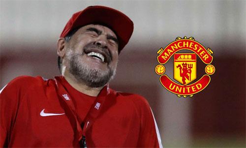 Maradona mơ về Man Utd.