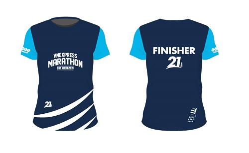 Mẫu áo dành riêng cho các vận động viên chinh phục thành công đường chạy21km.