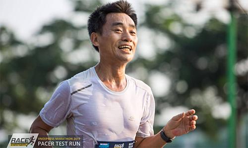 Anh Tương Giang vượt qua bài kiểm tra pacer trước thềm VnExpress Marathon 2019.