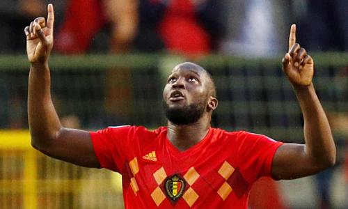 Lukaku ghi 25 bàn sau 21 trận gần nhất cho Bỉ. Ảnh:Reuters.