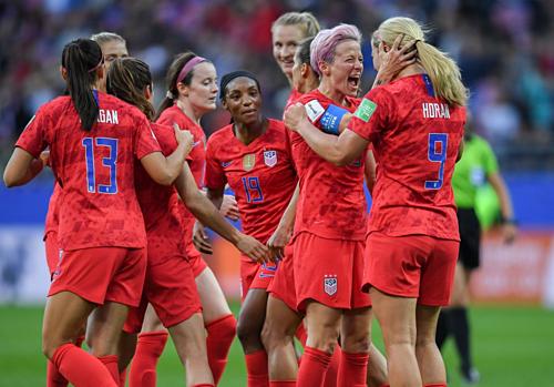 Mỹ khẳng định vị trí ứng cử viên hàng đầu cho ngôi vô địch World Cup 2019. Ảnh:AFP.
