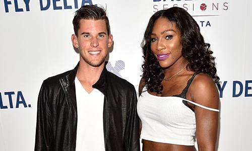 Thiem nửa đùa, nửa thật khi mời Serena đánh đôi nam nữ ở Grand Slam. Ảnh: BI.