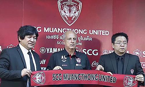 Muangthong công bố HLV Gama sẽ dẫn dắtđội vào chiều 13/6. Ảnh: Siam.