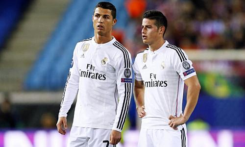 James (phải) có thể giúp Ronaldo cải thiện khả năng ghi bàn ở mùa tới. Ảnh: TJT.