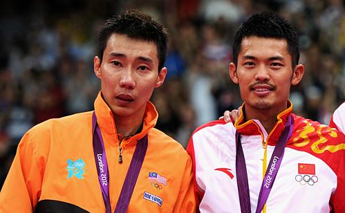 Lee (trái) thua Lâm ở chung kết Olympic 2012 tại London. Ảnh: FP.