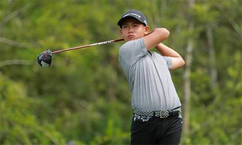 Golfer nghiệp dư Quang Anh, nếu vô địch Đà Lạt Championship, sẽ không được nhận tiền thưởng. Ảnh: Golf Edit.