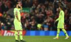Suarez muốn tan biến khỏi thế giới sau trận thua Liverpool