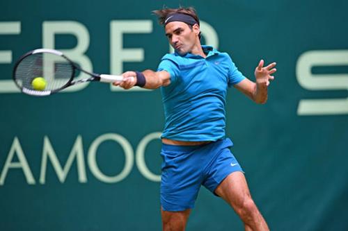 Federer là khách quen tại Halle từ năm 2000 đến nay. Ảnh:Tennisworld.