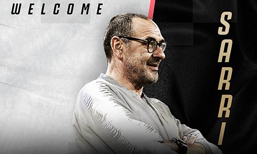 Juventus chào đón Sarri. Ảnh: JFC.