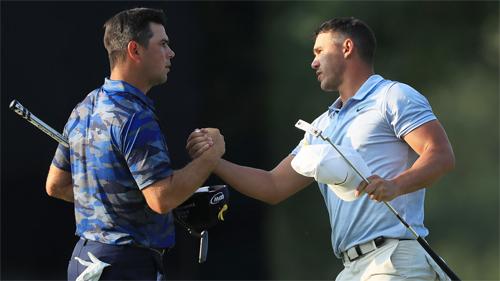 Woodland (trái) thường xuyên bị nhầm với Koepka. Ảnh: GolfChannel.