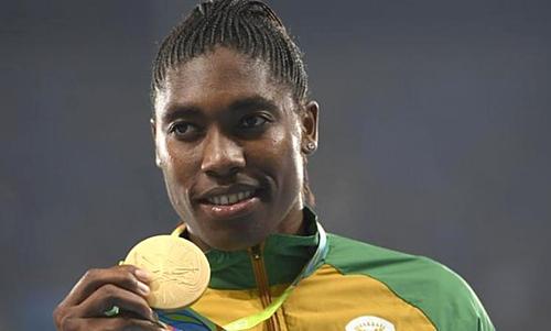 Semenya đã hai lần vô địch Olympic, ba lần vô địch thế giới cùng ở cự ly 800 mét. Ảnh:AFP.