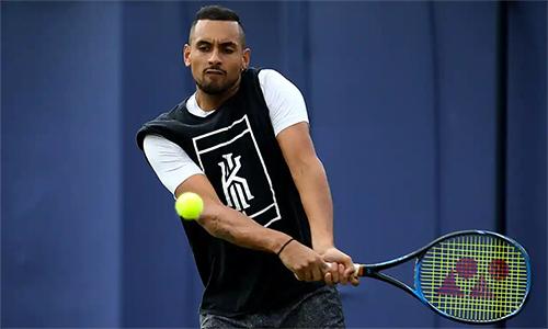 Kyrgios từng hạ Nadal tại Wimbledon 2014. Ảnh: PA.