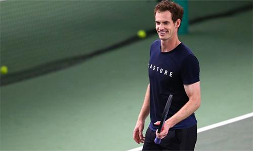 Murray không mạo hiểm đánh đơn ở Queen's Championships. Ảnh: Sky.