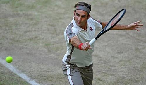 Federer thể hiện sức mạnh thực sự ở trận đấu này. Ảnh: BBC.