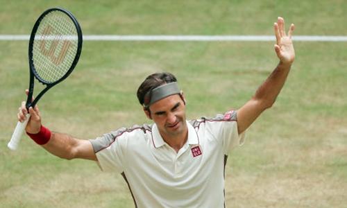 Federer lần thứ 10 vô địch Halle Mở rộng. Ảnh: Reuters.