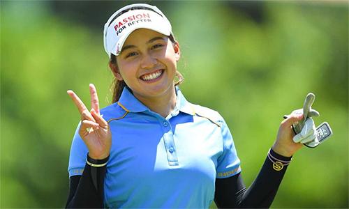 Thitikul đang có cơ hội trở thành golfer trẻ nhất đăng quan tại hai sự kiện Ladies European Tour ở Thái Lan. Ảnh: Bangkok Post.