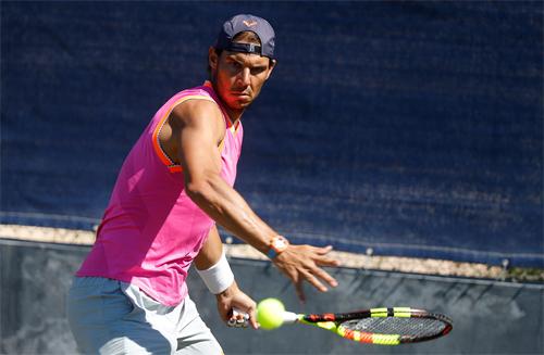 Nadal tập luyện tại Mallorca hồi tuần trước. Ảnh: Mallorca Open.