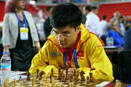 Anh Khôi là một trong những tài năng trẻ của cờ vua Việt Nam.