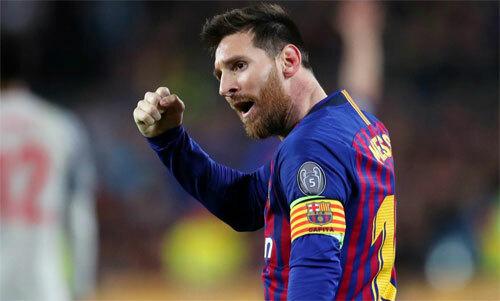 Messi và Barca đã bốn năm thua ở đấu trường châu Âu. Ảnh: Reuters
