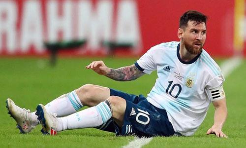 Messi thừa nhận chơi dưới sức ở Copa America 2019. Ảnh: AFP.