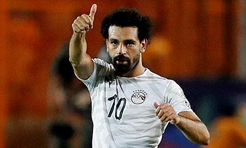 Salah giúp Ai Cập đạt thành tích hoàn hảo ở vòng bảng. Ảnh: Reuters.