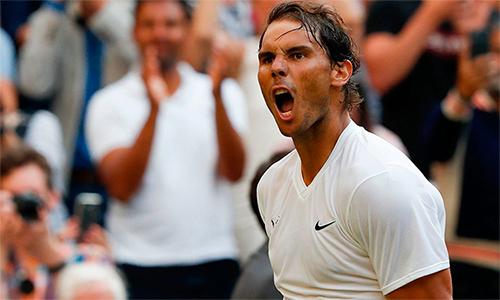Nadal mừng chiến thắng sau bốn set căng thẳng. Ảnh: AFP.
