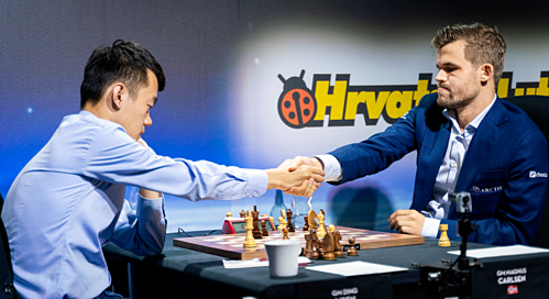 Kết quả hình ảnh cho Carlsen vô địch siêu giải Croatia Grand Tour 2019