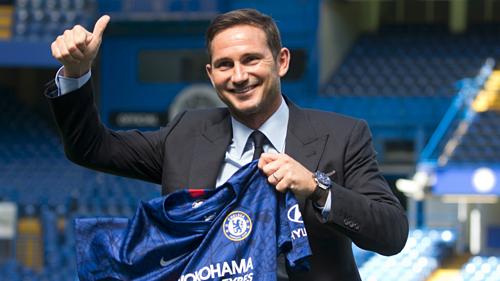 Lampard trong ngày ra mắt ở Chelsea. Ảnh:Chelsea FC.
