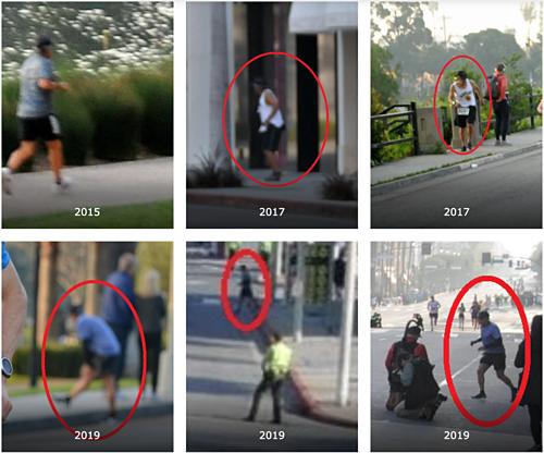 Trang Marathon Investigation cung cấp những hình ảnh được cho là khoảnh khắc gian lận của Meza trên đường chạy Los Angeles Marathon.