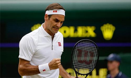Federer có thể đối đầu Rafael Nadal nếu đi tới bán kết. Ảnh: AP.