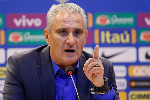 HLV Tite muốn Brazil sớm cải thiện phong độ. Ảnh:AFP.