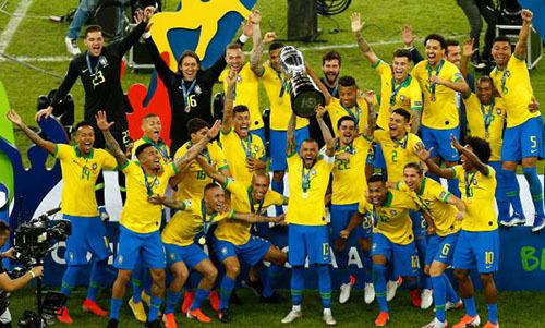 Brazil xứng đáng là tân vương của Copa America. Ảnh: AP.
