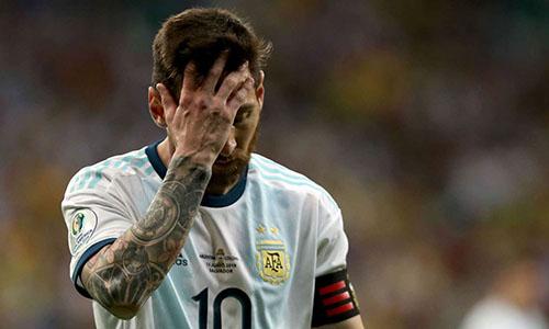 Messi cùng đồng đội có nguy cơ bị loại ở Copa America 2019. Ảnh: AFP.